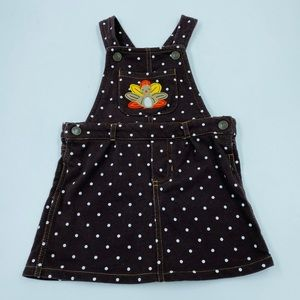 Carters Thanksgiving Overall Dress Brown 18 months